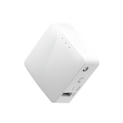 GL.iNet GL-AR150-3 Mini Travel Router, wifi-converter, OpenWrt pre-installed, Repeater Bridge, 150 Mbps High Performance, OpenVPN, Wireguard, Programable IoT Gateway